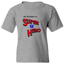 Load image into Gallery viewer, EZ-On BaBeez™ T-Shirt - My Grandpa is a Super Hero - EMT, Youth Tee