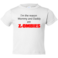 Load image into Gallery viewer, EZ-On BaBeez™ T-Shirt - Halloween Collection - Mommy and Daddy are Zombies - Toddler Tee