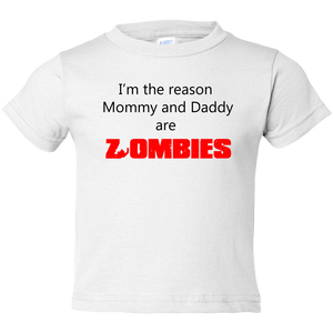 EZ-On BaBeez™ Halloween Collection - Mommy and Daddy are Zombies - T-Shirt - Toddler Tee