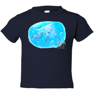 EZ-On BaBeez™ T-Shirt - Mom and Baby Collection - Marine Life Series, Dolphins - Toddler Tee