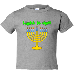"Toddler Tees- Hanukkah ""Lite it up"" Menorah"