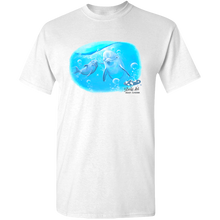 Load image into Gallery viewer, EZ-On BaBeez™ - Mom and Baby Collection - Marine Life Series, Dolphins - Adult Unisex Standard T-Shirt