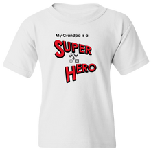 "Load image into Gallery viewer, ""My Grandpa is a Super Hero"" - Military, Youth Tee"