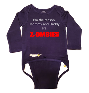 EZ-On BaBeez™ Halloween Collection - Mommy and Daddy are Zombies - Baby Bodysuit - Long Sleeve