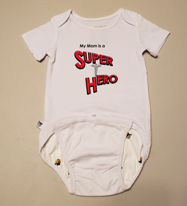 EZ-On BaBeez™ Baby Bodysuit - My Mom is a Super Hero - Doctor - Short Sleeve