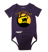 Load image into Gallery viewer, EZ-On BaBeez™ Halloween Collection - Black Cat - Baby Bodysuit - Short Sleeve