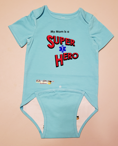 EZ-On BaBeez™ T-Shirt - My Mom is a Super Hero - EMT, Short Sleeve