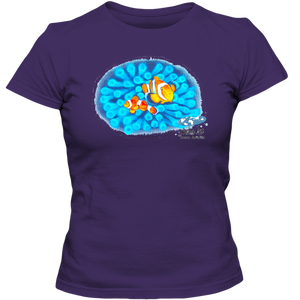 EZ-On BaBeez™ T-Shirt - Mom and Baby Collection - Marine Life Series, Clownfish - Adult Ladies Classic Tee