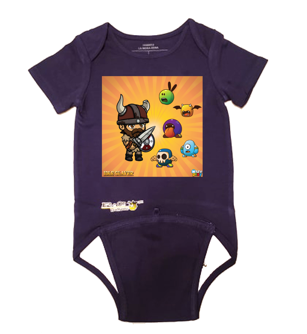 EZ-On BaBeez™ - WarePlay - Idle Slayer - Baby Bodysuit - Short Sleeve