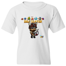 Load image into Gallery viewer, EZ-On BaBeez™ - WarePlay - Idle Slayer Leif with Villains - Youth T-Shirt