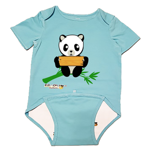 EZ-On BaBeez™ - GAB Bee - Panda - Name Board - Baby Bodysuit, Short Sleeve