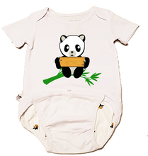 Load image into Gallery viewer, EZ-On BaBeez™ - GAB Bee - Panda - Name Board - Baby Bodysuit, Short Sleeve
