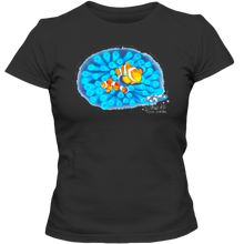 Load image into Gallery viewer, EZ-On BaBeez™ T-Shirt - Mom and Baby Collection - Marine Life Series, Clownfish - Adult Ladies Classic Tee