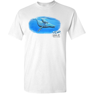 EZ-On BaBeez™ - Mom and Baby Collection - Marine Life Series, Humpback Whales - Adult Unisex Standard T-Shirt