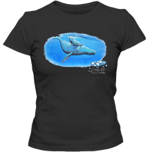 Load image into Gallery viewer, EZ-On BaBeez™ - Mom and Baby Collection - Marine Life Series, Humpback Whales - Adult Ladies Classic T-Shirt