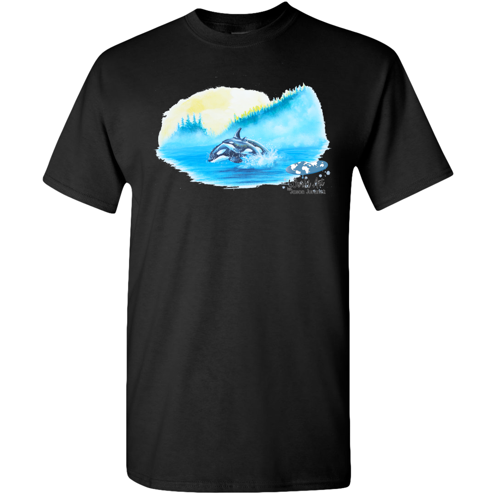 EZ-On BaBeez™ - Mom and Baby Collection - Marine Life Series, Orcas - Adult Unisex Standard T-Shirt