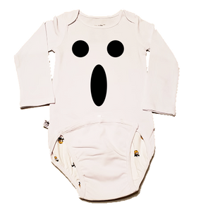 EZ-On BaBeez™ Baby Bodysuit - Halloween - Ghost Face - Long Sleeve