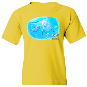 EZ-On BaBeez™ T-Shirt - Mom and Baby Collection - Marine Life Series, Dolphins - Youth Tee