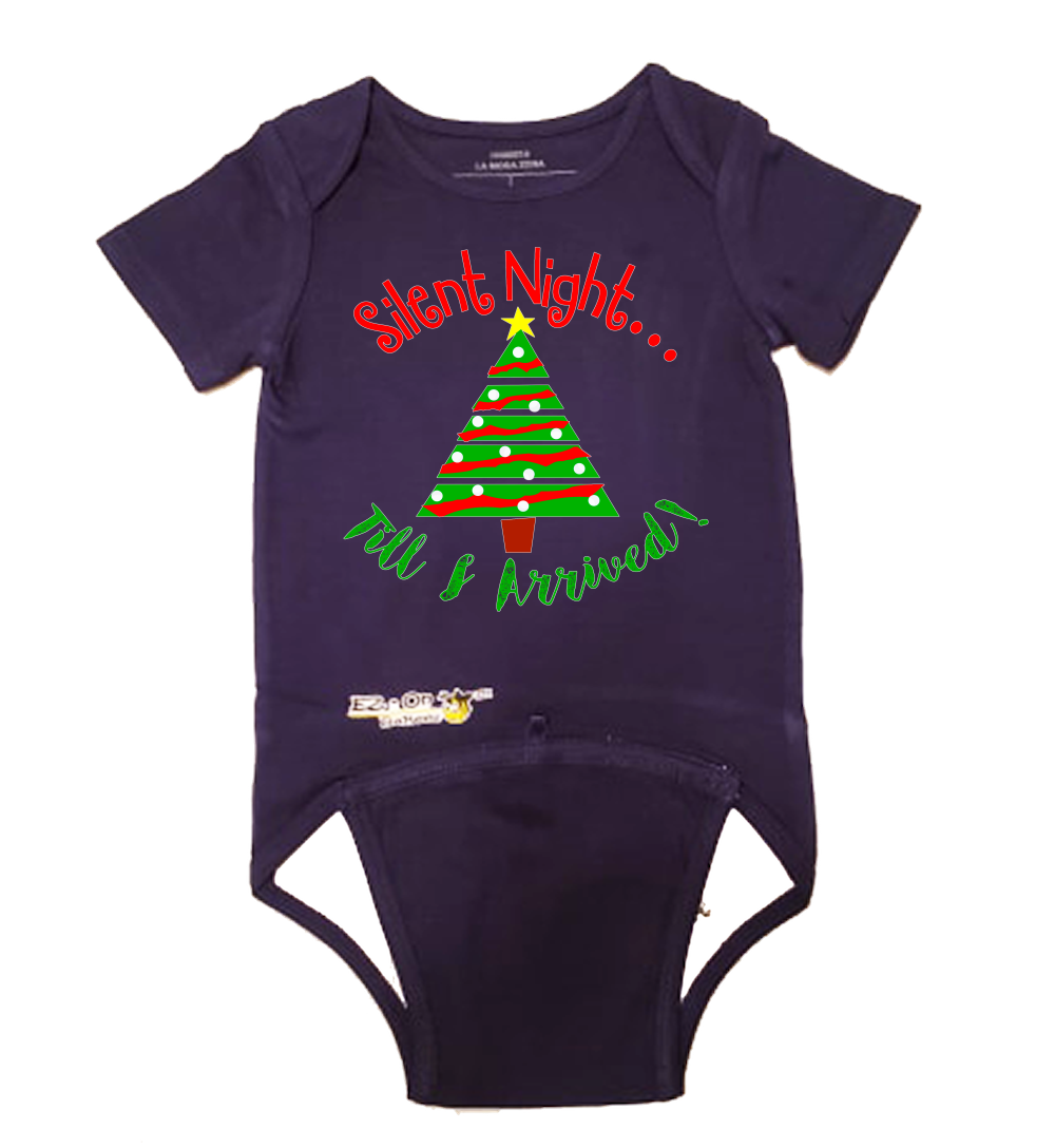EZ-On BaBeez Baby Bodysuit, Short Sleeve- Christmas