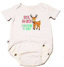 "Load image into Gallery viewer, EZ-On BaBeez™ - Holiday - Christmas - ""Deer Oh Deer"" - Baby Bodysuit, Short Sleeve"