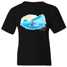 Load image into Gallery viewer, EZ-On BaBeez™ - Mom and Baby Collection - Marine Life Series, Orcas - Youth T-Shirt