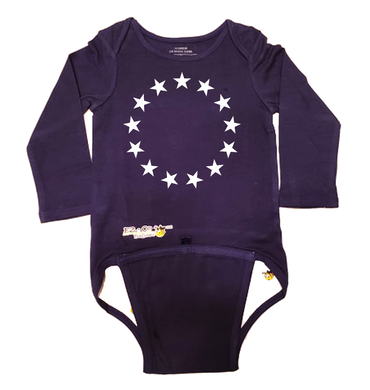 EZ-On BaBeez™ Baby Bodysuit - Americana Collection - 13 Stars - Long Sleeve
