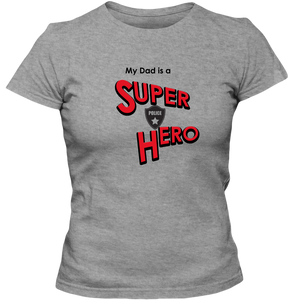 EZ-On BaBeez™ T-Shirt - My Husband is a Super Hero - Police, Adult Ladies Classic Tees
