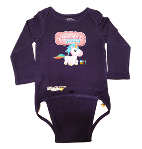 EZ-On BaBeez™ - WarePlay - Unicorns Journey Unicorn Logo - Baby Bodysuit, Long Sleeve