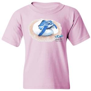 EZ-On BaBeez™ T-Shirt - Mom and Baby Collection - Marine Life Series, Baby Sea Turtle - Youth Tee