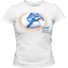 Load image into Gallery viewer, Adult Ladies Classic Tees, Mom and Baby Collection - Marine Life Series, Baby Sea Turtle