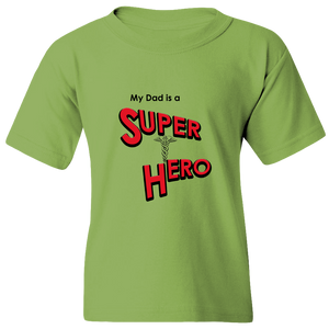 EZ-On BaBeez™ T-Shirt - My Dad is a Super Hero - Doctor, Youth Tee