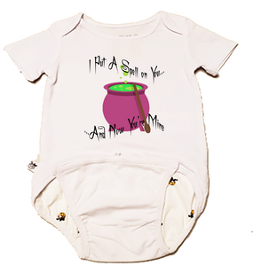EZ-On BaBeez™ Halloween Collection - I Put a Spell on You - Baby Bodysuit - Short Sleeve
