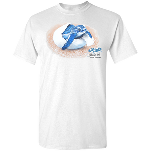 Adult Unisex Standard Tee, Mom and Baby Collection - Marine Life Series, Baby Sea Turtle