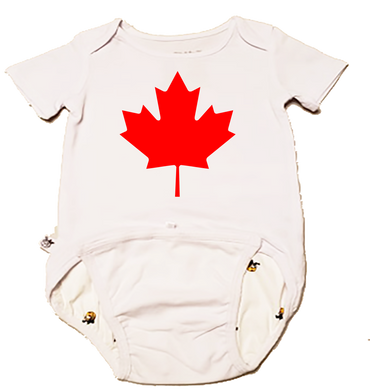 EZ-On BaBeez™ Baby Bodysuit - Americana Collection - Maple Leaf (Canada Day) - Short Sleeve