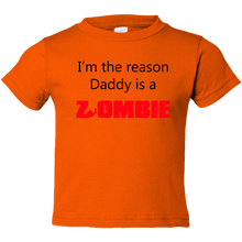 Load image into Gallery viewer, EZ-On BaBeez™ T-Shirt - Halloween Collection - Daddy is a Zombie - Toddler Tee