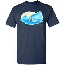 Load image into Gallery viewer, EZ-On BaBeez™ T-Shirt - Mom and Baby Collection - Marine Life Series, Orcas - Adult Unisex Standard Tee