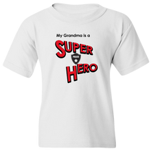 Load image into Gallery viewer, EZ-On BaBeez™ - Super Hero - Grandma is a Super Hero - Police, Youth T-Shirt
