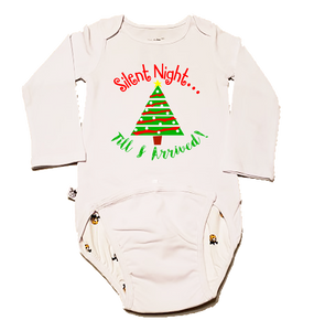 "EZ-On BaBeez Baby Bodysuit, Long Sleeve- Christmas ""Silent Night"""