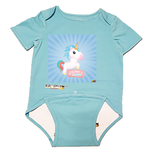 Load image into Gallery viewer, EZ-On BaBeez™ - WarePlay, Unicorn's Journey - Baby Bodysuit - Short Sleeve