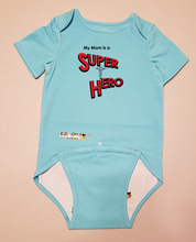 Load image into Gallery viewer, EZ-On BaBeez™ Baby Bodysuit - My Mom is a Super Hero - Doctor - Short Sleeve