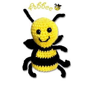 EZ-On BaBeez™ - Accessories - Abbee The Bee - Hand Crocheted Toy