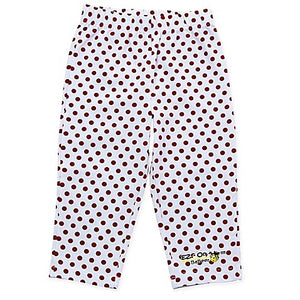 EZ-On BaBeez™ Red Dot Legging in White