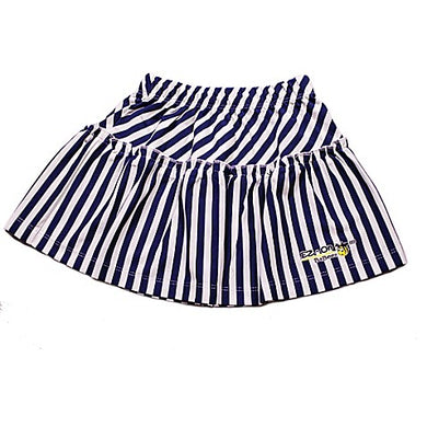EZ-On BaBeez™ - Lapis Blue Stripes on White - Ruffled Skirt