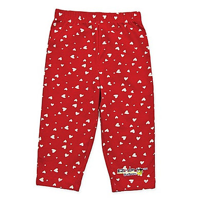 EZ-On BaBeez™ Heart Pull-On Pant in Red