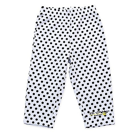 EZ-On BaBeez™ Black Dot Legging in White