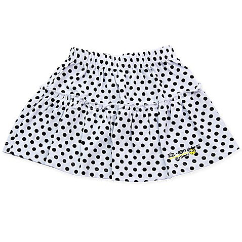 EZ-On BaBeez™ Dot Ruffled Skirt in Black/White