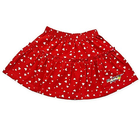 EZ-On BaBeez™ White Heart Ruffled Skirt in Red