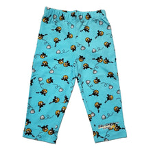 Load image into Gallery viewer, EZ-On BaBeez™ - Spring & Summer - Pull-On Pants - Honeybee on Aqua