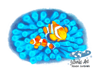 EZ-On BaBeez™ - Mom and Baby Collection - Marine Life Series, Clownfish - Adult Unisex Standard T-Shirt