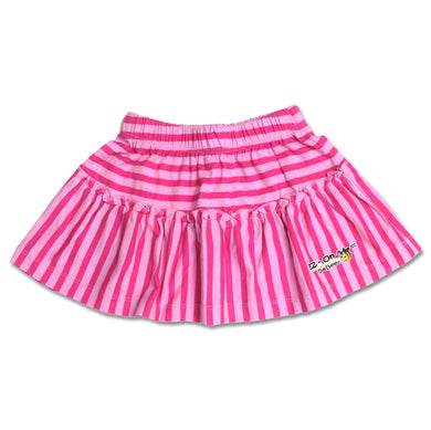EZ-On BaBeez™ - Pink stripes - Ruffled Skirt